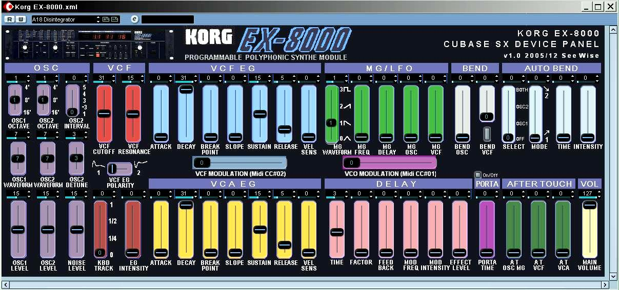 Korg EX 8000 SX Patch+Panel cubase sx device panels c y kong com  at mifinder.co